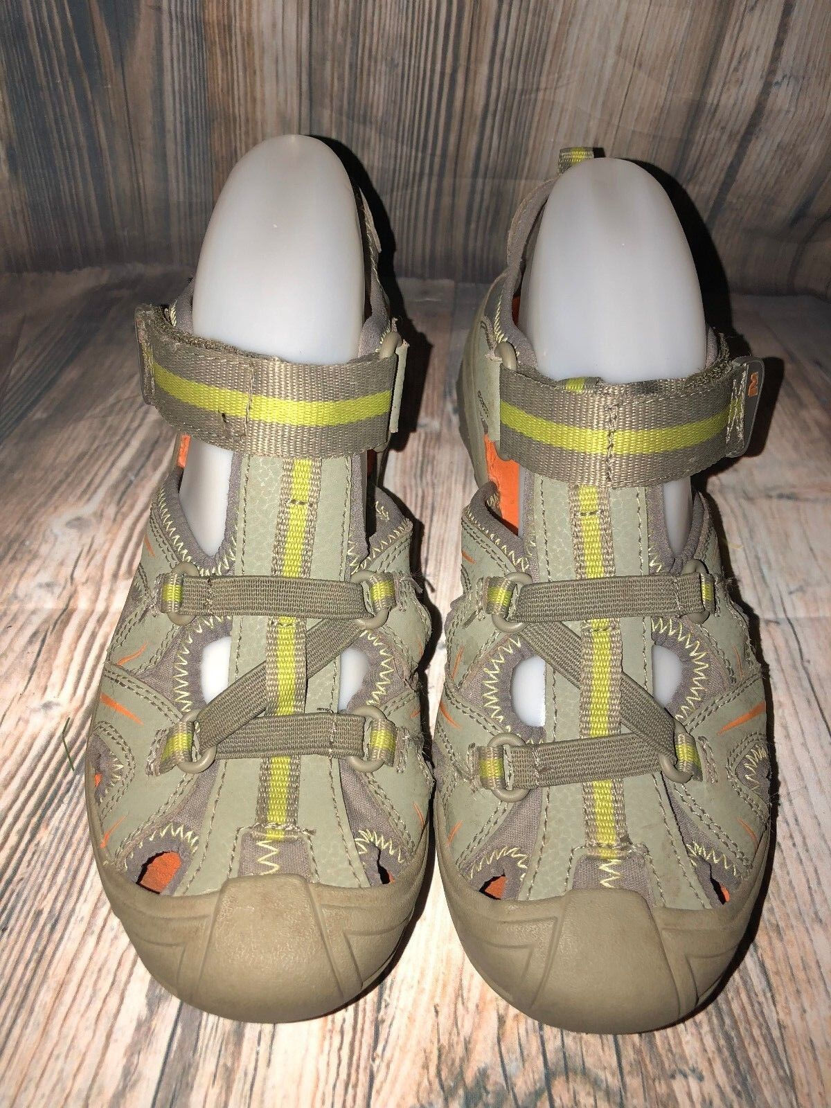 MERRELL WOMEN'S HYDRO SIZE GREEN LEATHER SANDAL SHOES SIZE HYDRO 5 / 36 85286a