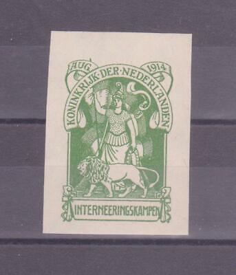 """Kraftvoll Niederlande Postfrisch/** Den Menschen In Ihrem TäGlichen Leben Mehr Komfort Bringen August 1914 Vignette """" Internierungslager """""""