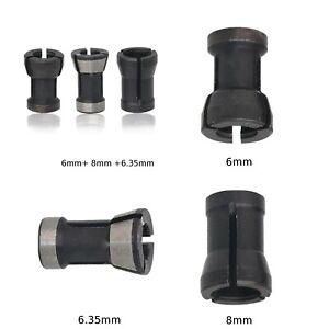 3pcs pince de serrage tête de mandrin gravure coupe machine de  6,35mm 8mm 6mm