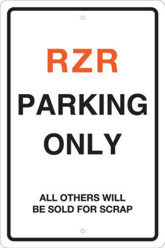 POLARIS RZR PARKING SIGNS POWERSPORT MAN CAVE LARGE 8x12 ALUMINUM -OFF ROAD