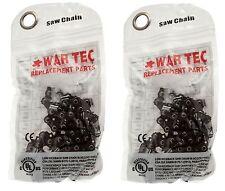 """WAR TEC 20"""" Cadena De Motosierra Pack 2 compatible RYOBI RCS4450C RCS 4450C 4450"""