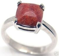 Gorgeous Woman Red Colar Silver Ring S 7.25 152