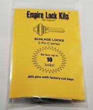 Schlage Rekey Kit 10 Locks 5 Pin Key Sc1 Bottom Pins With Factory Cut Keys