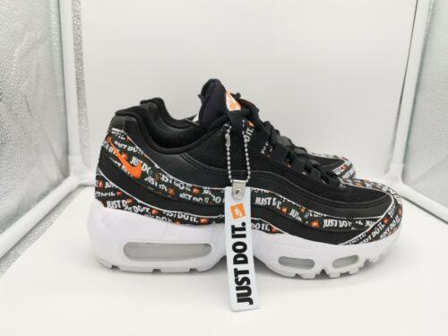 Nike Air Max 95 SE UK 5 Black White Total Orange AV6246-001 /'JUST DO IT/' JDI