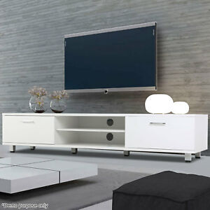 Modern High Gloss Tv Unit Cabinet Stand Media Video Lowboard Sideboard White New Leicestershire