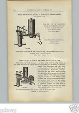 1910 PAPER AD Triumph Steam Engine Indicator Lippincott Pressure Indicator Meter