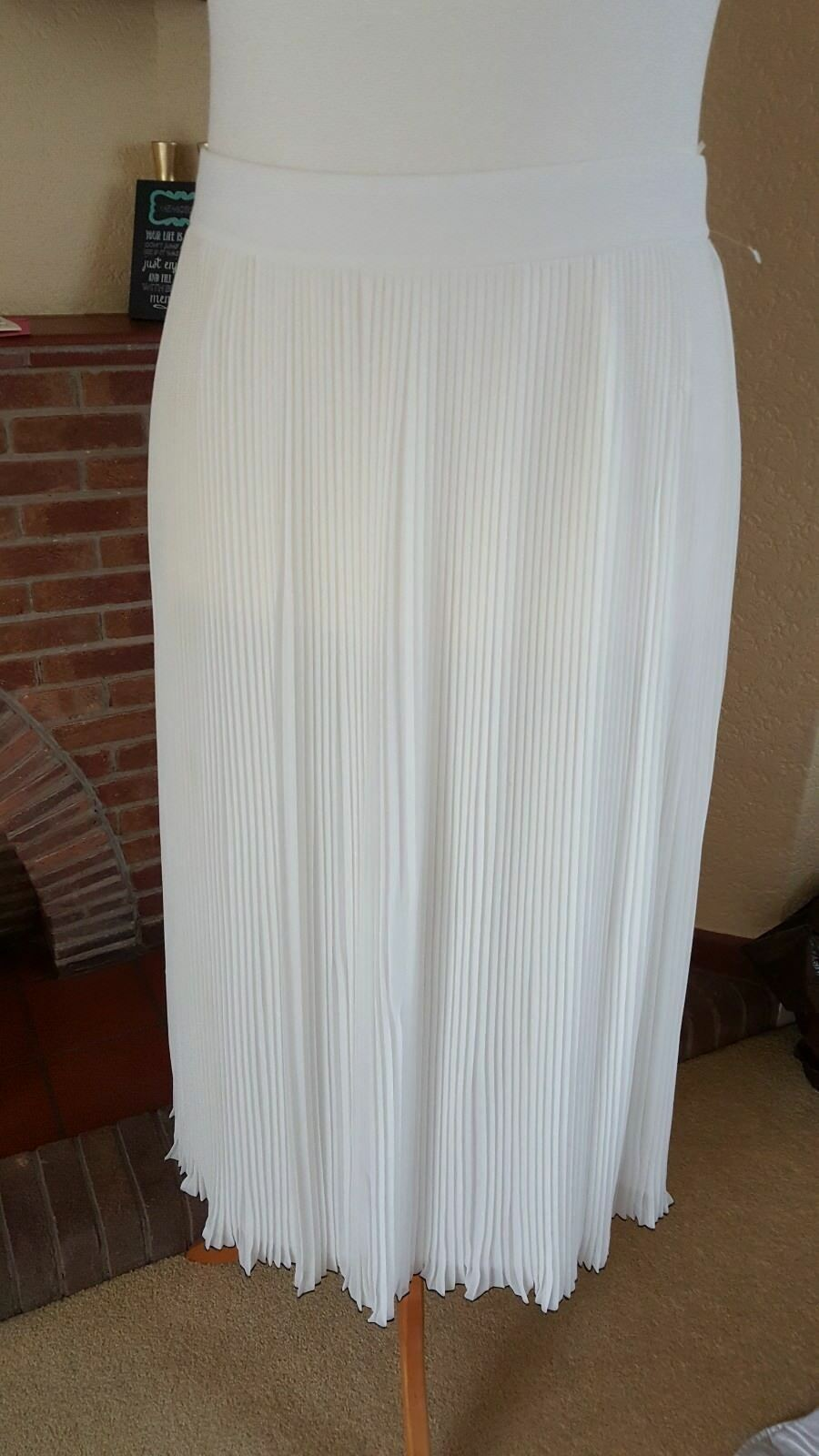 LIGHT CREAM LONG CRINKLE SKIRT WITH TRIM FROM NEXT  18 - WEDDING SUMMER HOLIDAY
