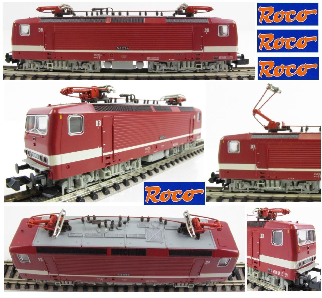 contatore genuino ROCO 23276 VINTAGE VINTAGE VINTAGE LOCOMOTORE ELETTRICO Serie BR143 573-4 DR LUCI Ep IVa SCALA-N  qualità di prima classe