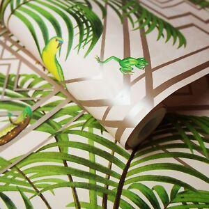 Congo Papier Peint Geometrique Rouleaux Rose Holden 90200 Tropical