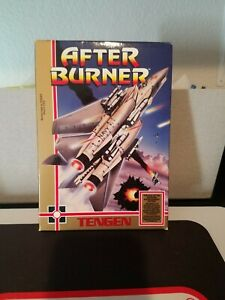 After Burner for Nintendo NES Complete + Registration Card Tengen Poster MINTY