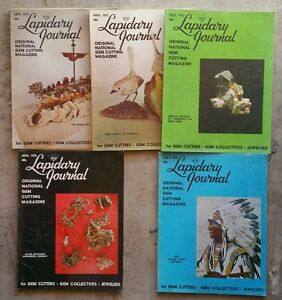 Lapidary-Journal-Gem-Cutters-Gem-Collectors-Jewelers-1972-73-amp-039-74-lot-of-7