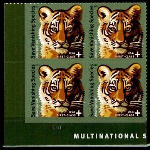 US Scott #B-4  Semi Postal  Plate Block of 4  Save Vanishing Species