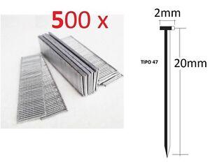 500-CLAVOS-DE-20mm-PARA-GRAPADORA-ELECTRICA-PARKSIDE-DE-CALIDAD-ALEMANA-TIPO-47