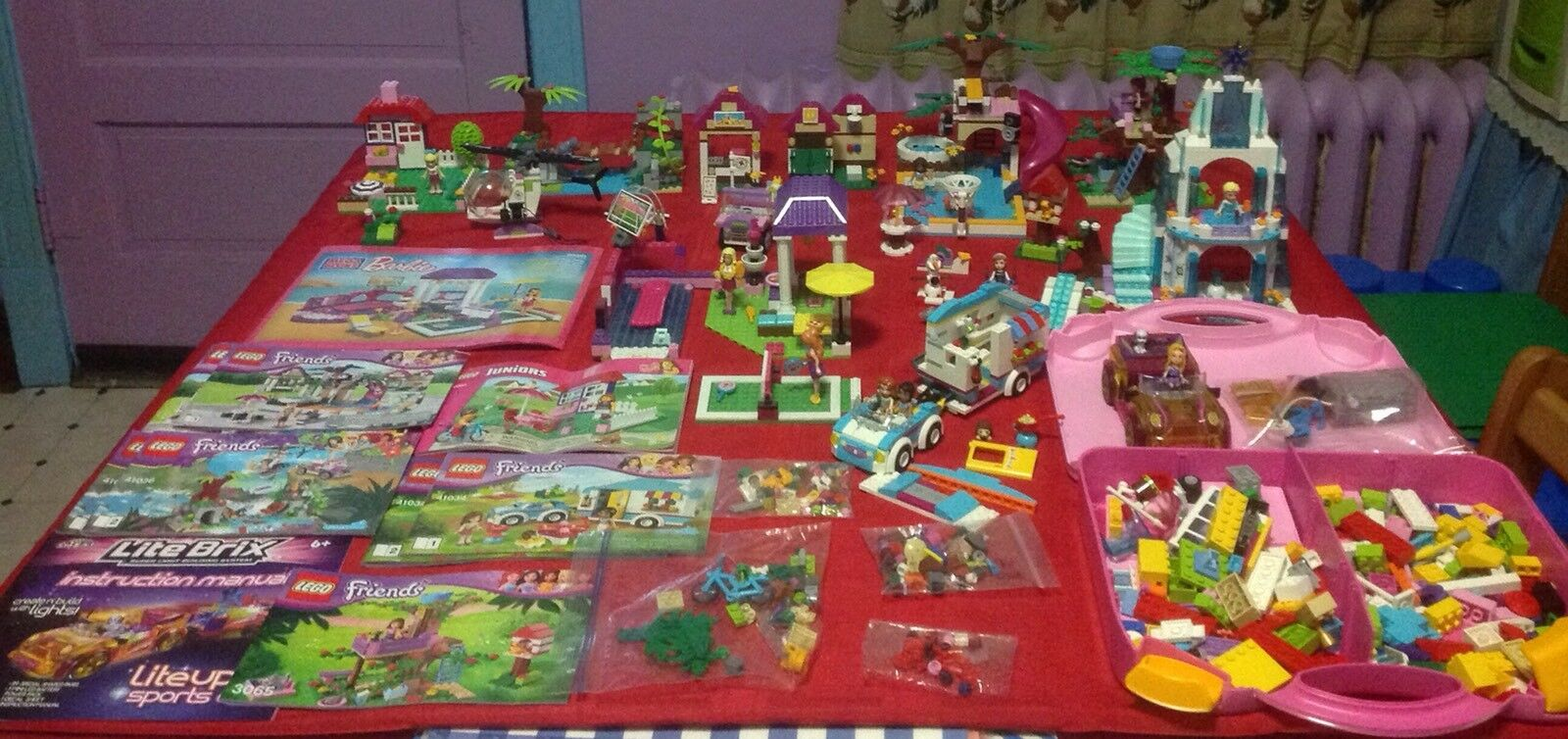 LEGO's Friends Lot 8 Sets With Figures & Books