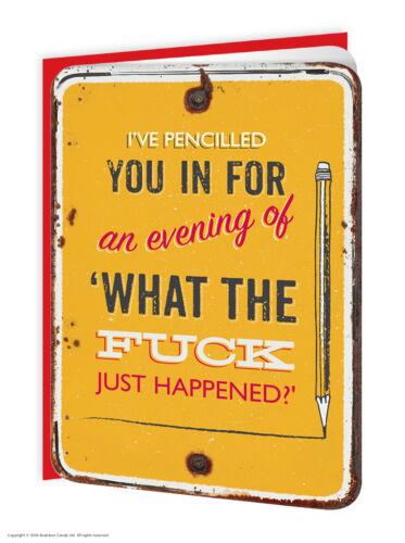 Anniversaire carte de vœux grossier drôle humour coquine nouveauté blague différents wtf