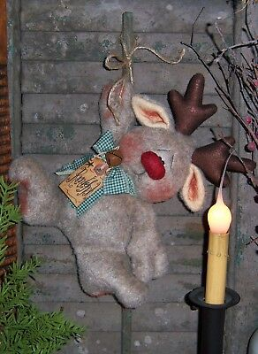 Primitive Patti/'s Ratties Christmas Reindeer Folk Art Doll Paper Pattern #223