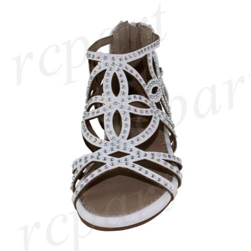 New girl/'s kids back zipper sandals white gladiator  casual open toe summer