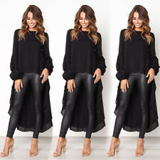 950461e90f9c0 item 6 Women Long Sleeve Ruffle Hem Asymmetrical Crop Tops High Low Blouse  Shirt N8S1 -Women Long Sleeve Ruffle Hem Asymmetrical Crop Tops High Low  Blouse ...
