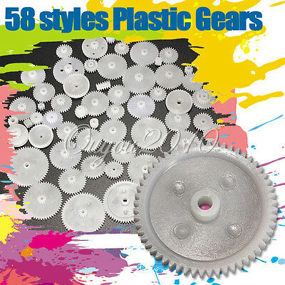 58 Styles Plastic Gears All The Module 0.5 Robot Toy Parts Accessories DIY