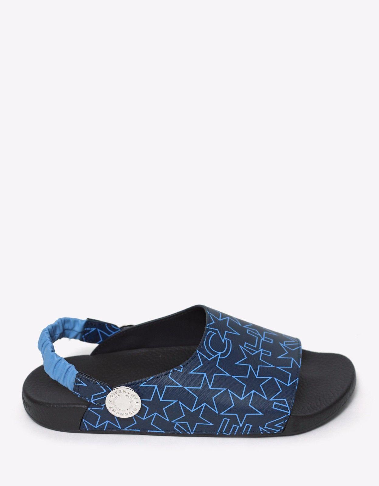 NEU Riemchensandalen Givenchy marineblau sterneaufdruck Slip Riemchensandalen NEU NEU mit Etikett f3e0c1