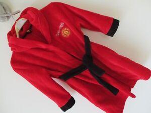 Manchester-United-Fred-le-rouge-robe-de-chambre-5-6-ans-Avec-Queue-et-Cornes