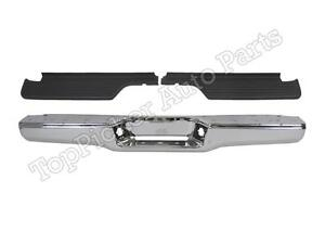 FOR Toyota 1993-1998 T100 Rear Step Bumper Face Bar Chrome Hitch Bar