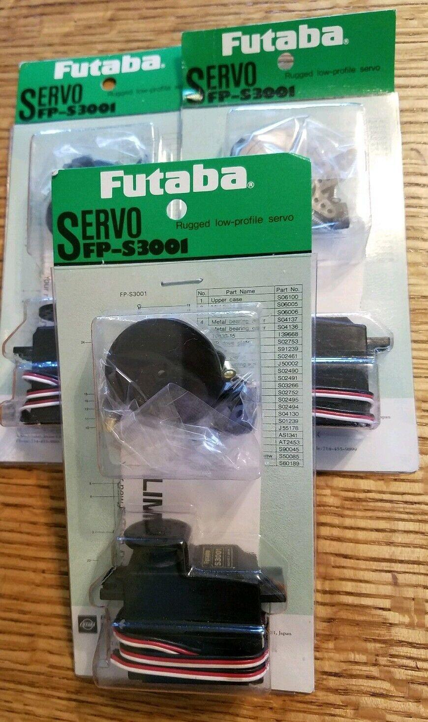 Futabab FP-S3001 Servo. LOT OF 3.  nuovo    grandi offerte