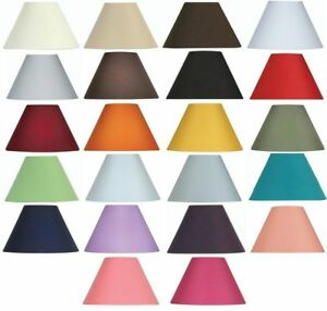 Oaks-Lighting-Cotton-Coolie-Lamp-Shade-16-inch-S501-16-Available-in-25-Colours