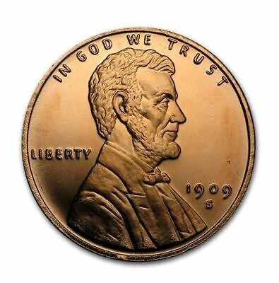 1909-S VDB Lincoln Collector Wheat Penny Design Round 1 Oz 999 Fine Copper Round