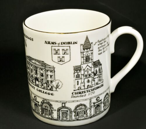 Rosalind Walshe Collection DUBLIN IRELAND Buildings Fine Bone China Coffee Mug