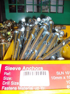 Two 10 mm x 75mm Sleeve Anchors concrete fixing bolts | eBay