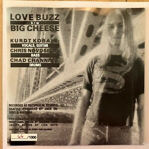 Nirvana-039-s-First-Release-Love-Buzz-66-of-1000-Super-Rare