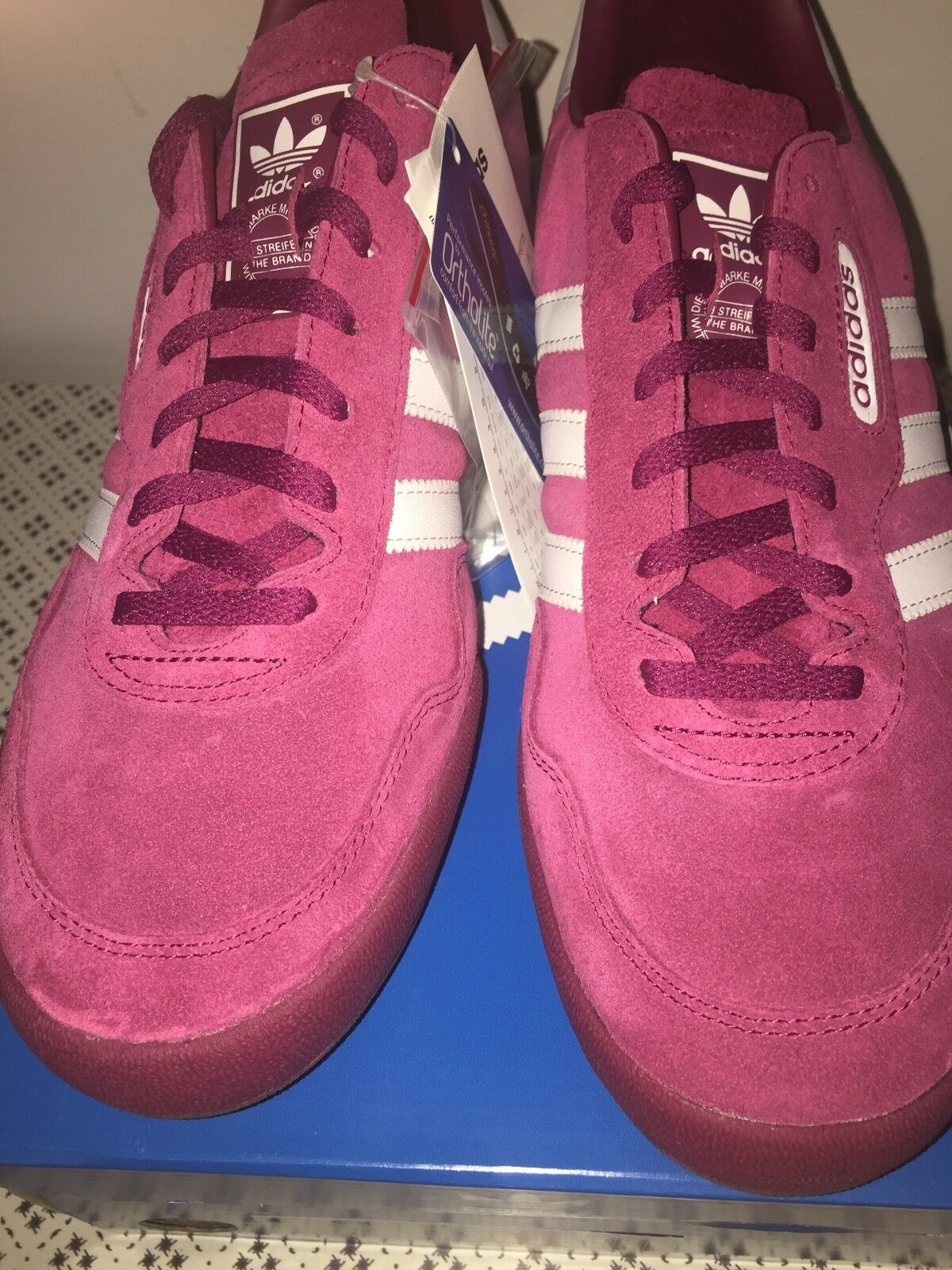 Adidas Ruby Originals Super Jeans Trainers UK 9 US 9.5 Ruby Adidas + Spare Laces Ortholite 729ab2