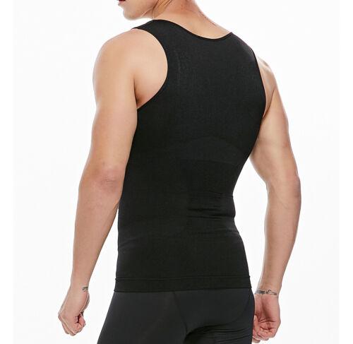 Men Slimming Vest Compression Shirts Gynecomastia Moob Tummy Control Body Shaper