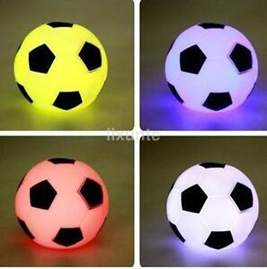 Image Is Loading Led Night Light Color Changing Soccer Ball Table