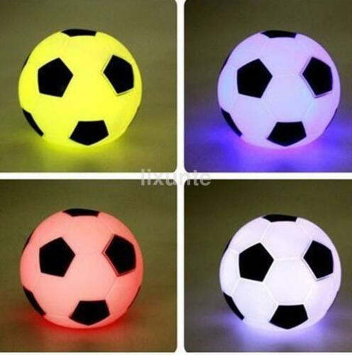 Led Night Light Color Changing Soccer Ball Table Lamp Sports Football Uk