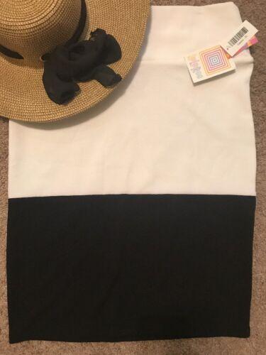 Colorblock Lularoe Cassie Immerso Bianco Nero M Sz Skirt Nwt 6FS60q