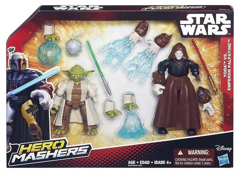 Star Wars Hero Mashers Yoda VS Emperor Palpatine Battle Pack Action Figure