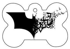 DéLicieux Les Chauves-souris Logo Batman Chien Animaux Chat Id Tag Personnalisé Photo Image Personnalisé Porte-clés-afficher Le Titre D'origine Calcul Minutieux Et BudgéTisation Stricte