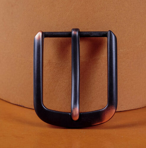 """Solid Heavy Black Pin Single Prong Clip Replacement Belt Buckle For 1-1//2/"""" Strap"""