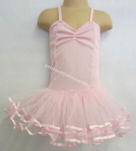 Fairy Dress Ballet Tutu Dance Costume Pink 2-4 Years Polyester Stretch Leotard