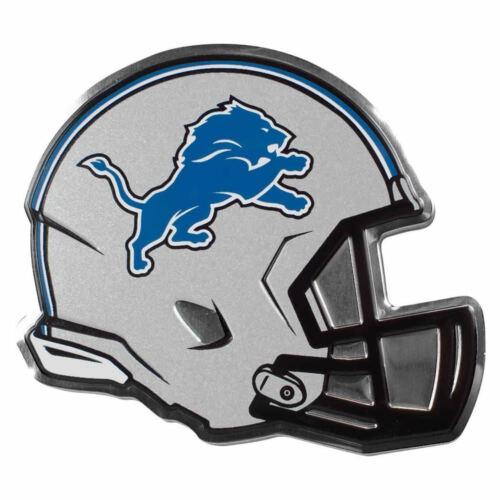 "NFL Officially Licensed Detroit Lions Helmet Premium Aluminum Emblem 4/""x3.5/"""
