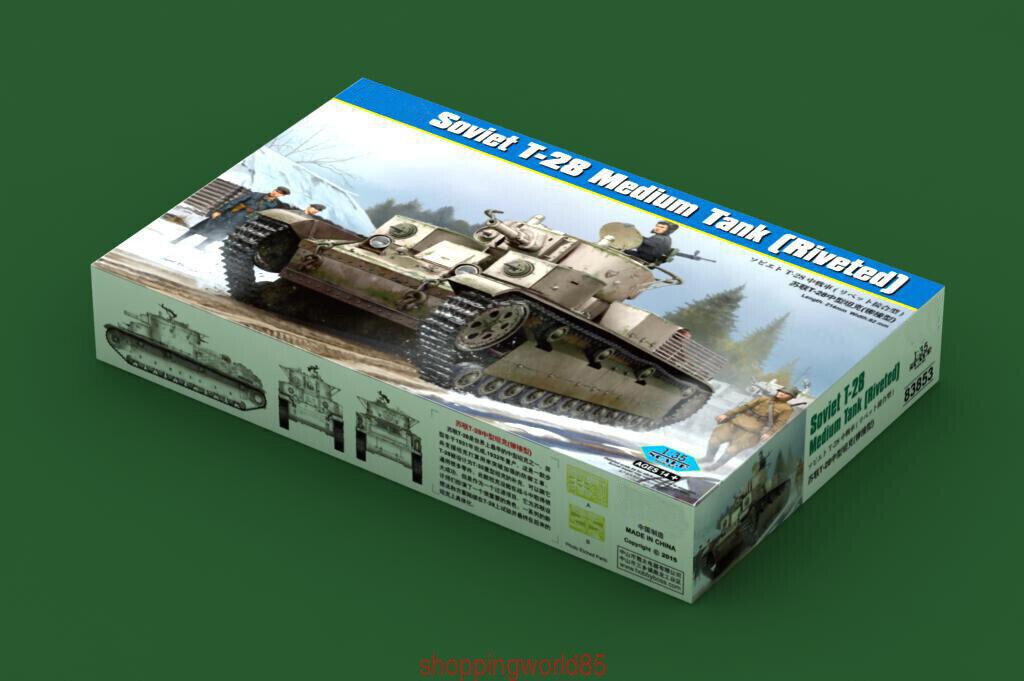 Hobbyboss 83853 1 35 Soviet T-28 Medium Tank (Riveted) Model Kit