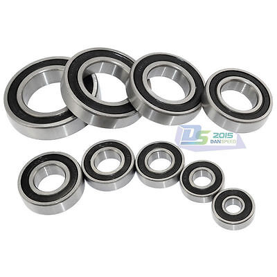 6805RS Metal Rubber Sealed Ball Bearing 25x37x7 mm 6805-2RS Black 10 PCS