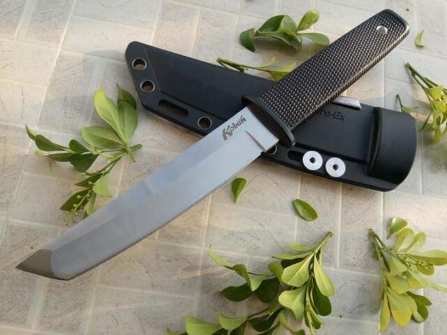 10'' New Rubber Handle AUS-8A Steel Blade Survival Bowie Hunting Knife JH17T