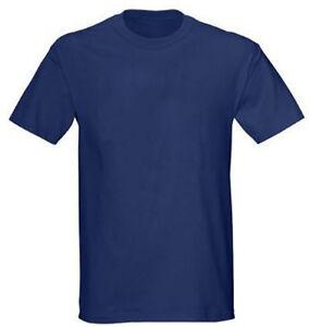 Gildan Navy Blue 50/50 Plain T-Shirt Tee Short Sleeve Men ...