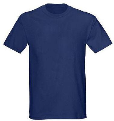 Gildan Navy Blue 50/50 Plain T-Shirt Tee Short Sleeve Men's 8000 Ultra  Blend   eBay
