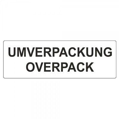 """Offen Versandetiketten """"umverpackung Overpack"""" Auf Rolle - 50 X 150 Mm - 500 Stück Um Eine Hohe Bewunderung Zu Gewinnen Und Wird Im In- Und Ausland Weithin Vertraut."""