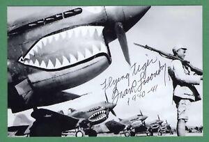 Frank Losonsky Wwii Avg Fliegende Tiger Unterzeichnet 4x6 B/w Glanz Foto E17616 2019 Offiziell Transport