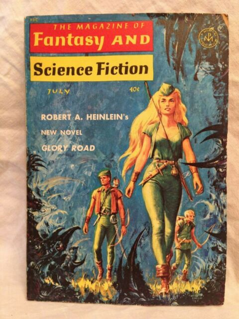 Magazine of Fantasy & Science Fiction, JLY 1963, ROBERT A HEINLEIN, Fritz lieber